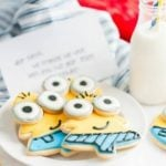 Minion Sugar Cookies for Christmas