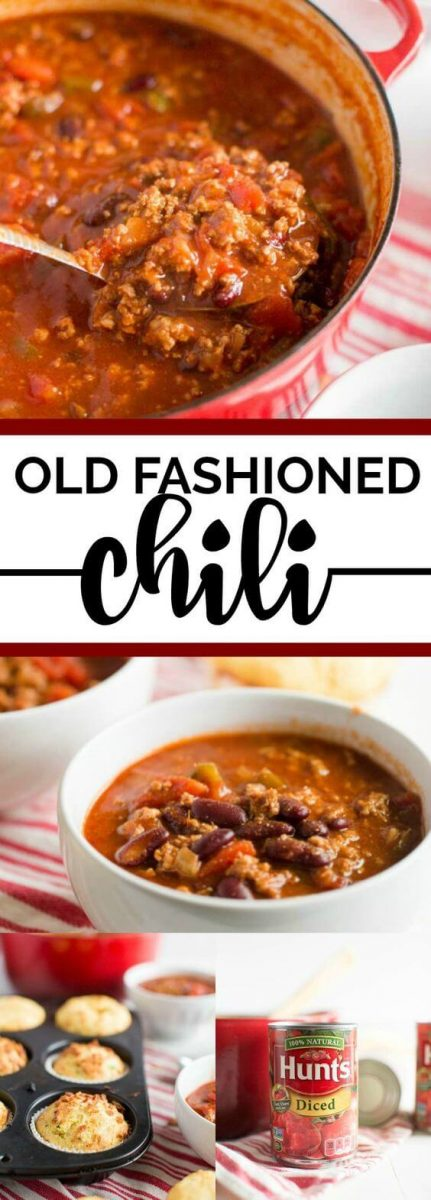 Old Fashioned Chili Recipe and Cornbread