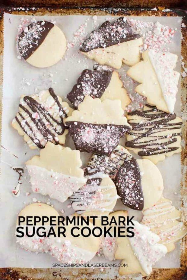 Peppermint Bark Sugar Cookies