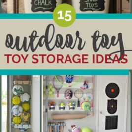 OUTDOOR TOY STORAGE IDEAS - SO CLEVER!