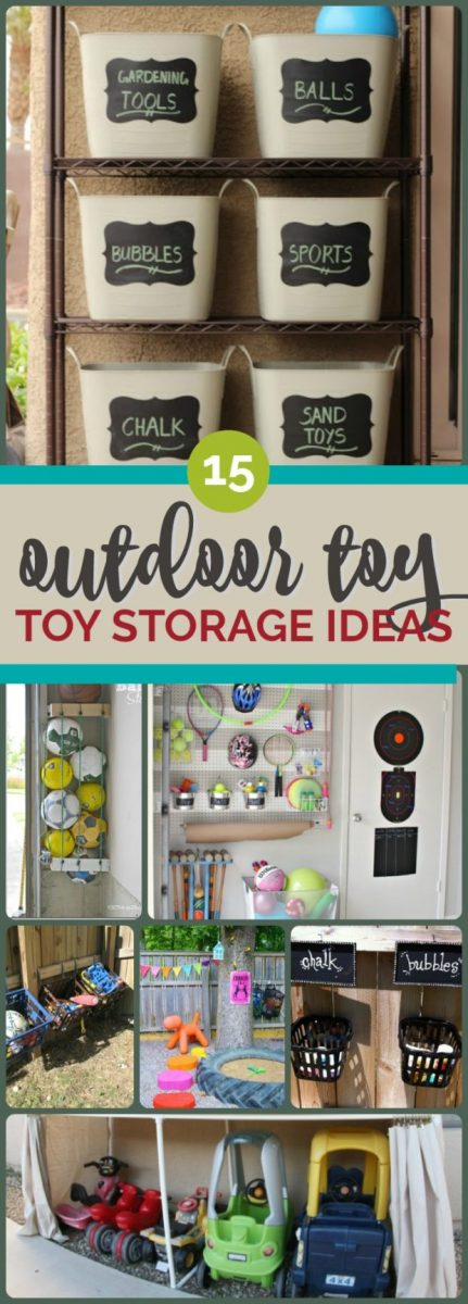 Outdoor Toy Storage Ideas So Clever