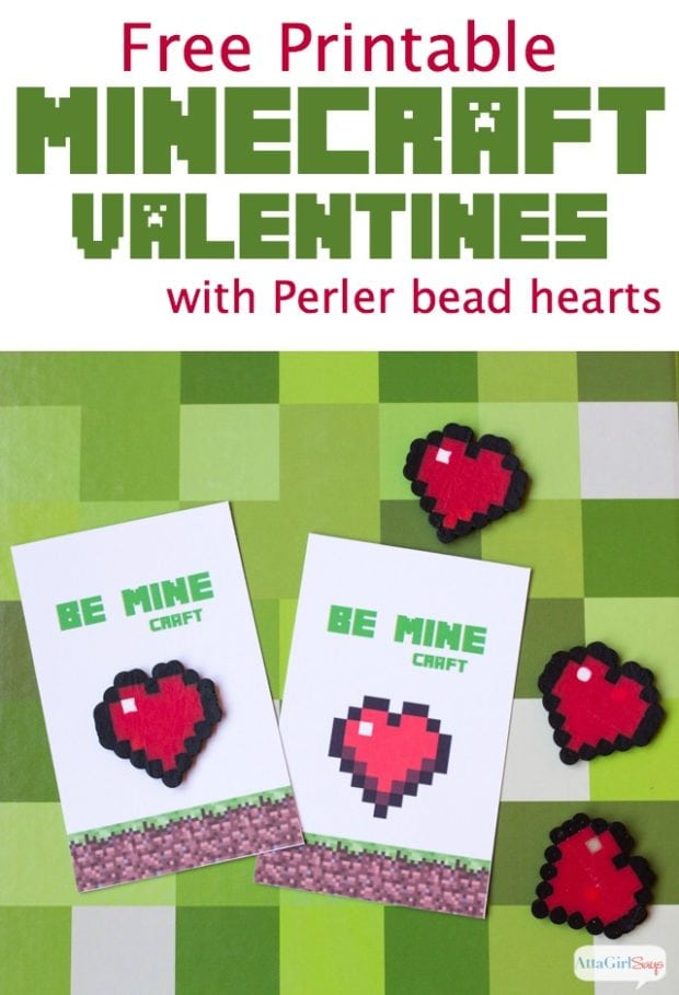 graphic regarding Free Printable Chevron Banner Minecraft referred to as 12 Minecraft Valentine Playing cards and Strategies - Spaceships and