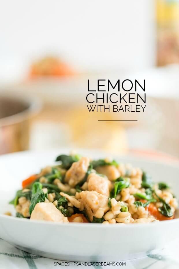 Lemon Chicken with Barley