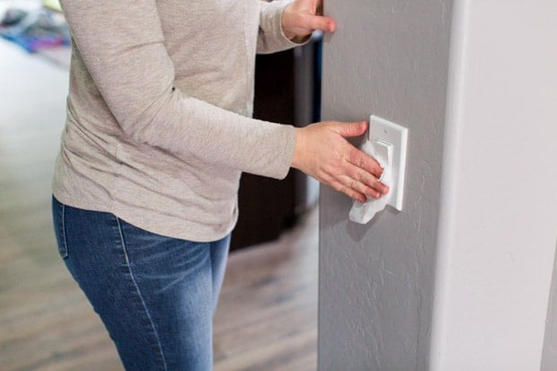 Wipe Down Light Switches