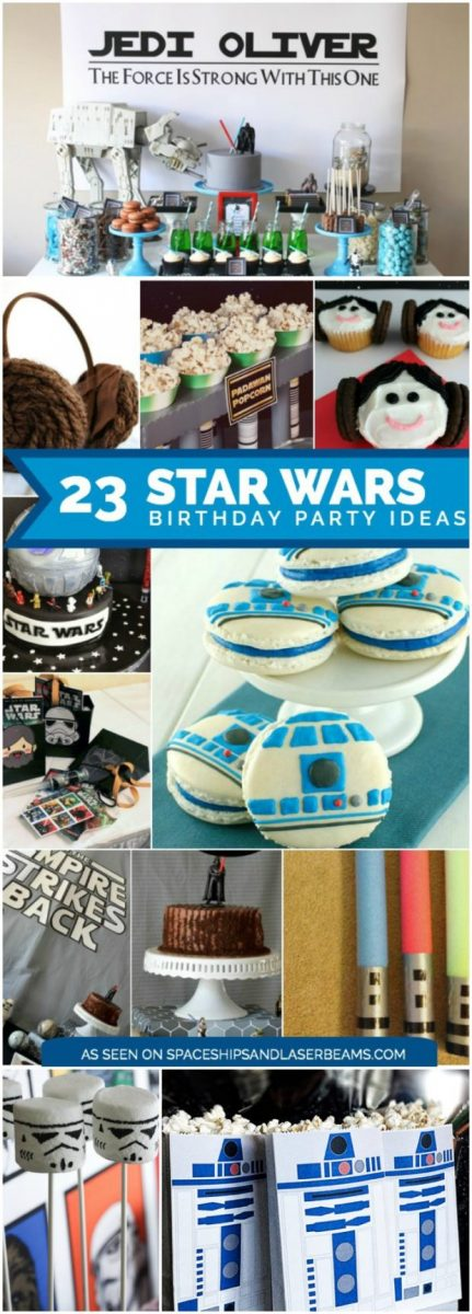 Star Wars Birthday Party Ideas including party supplies, decorations, cakes, cupcakes, sweets, games and more
