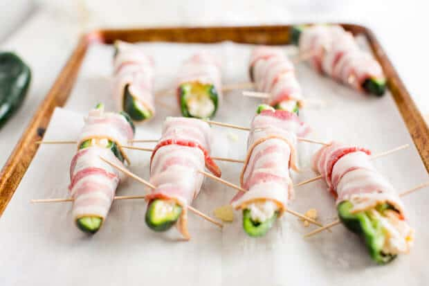 Bacon Wrapped Poppers