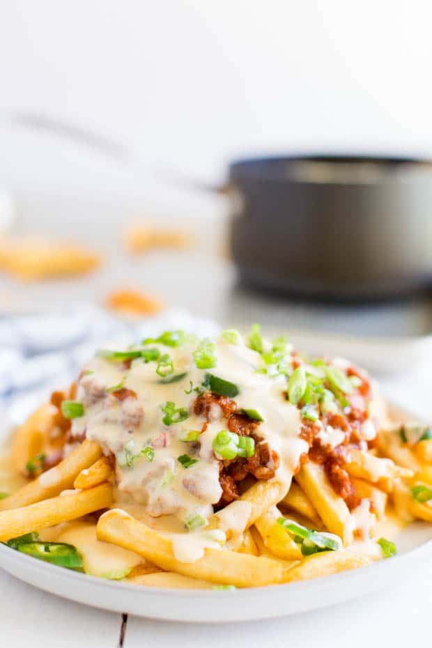 Plate of Chili Cheese Fries