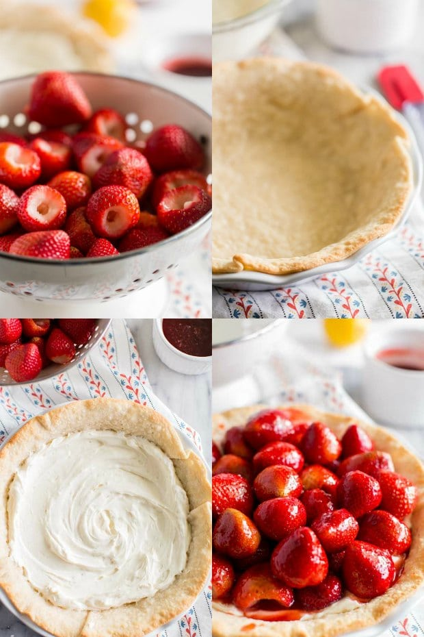 Steps for Making Strawberry Pie