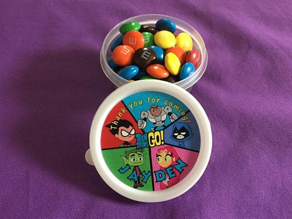 teen titans go candy cups