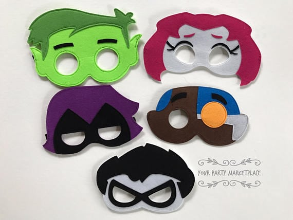 teen titans masks