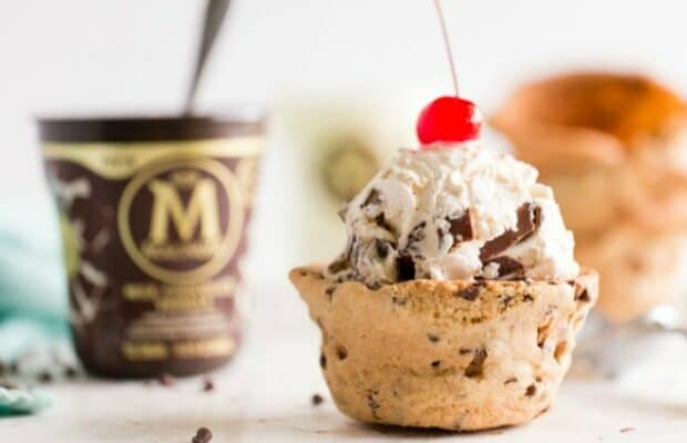 Ice Cream and Cookie Cups