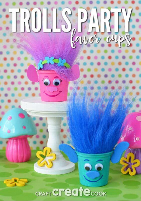 Trolls Party Favor Cups