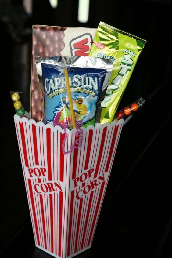Slumber Party Movie Night Favor