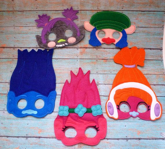 Trolls Party Masks