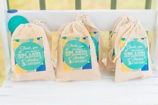 """Let's Make a Splash"" Pool Party Favor Bags"