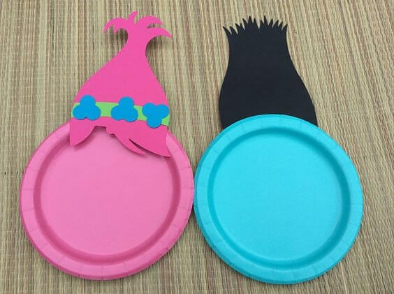 Trolls Birthday Party Plates