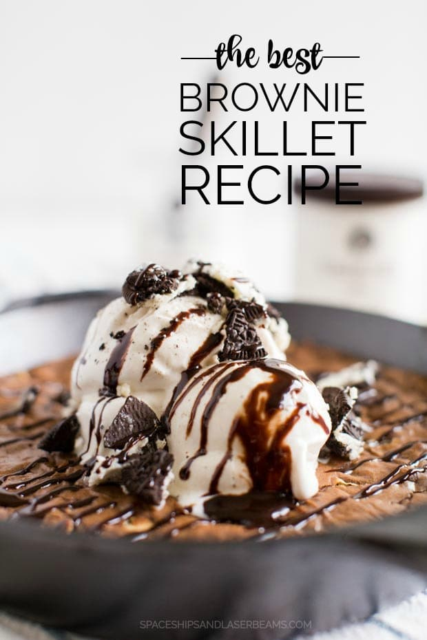 Skillet Brownies from Scratch