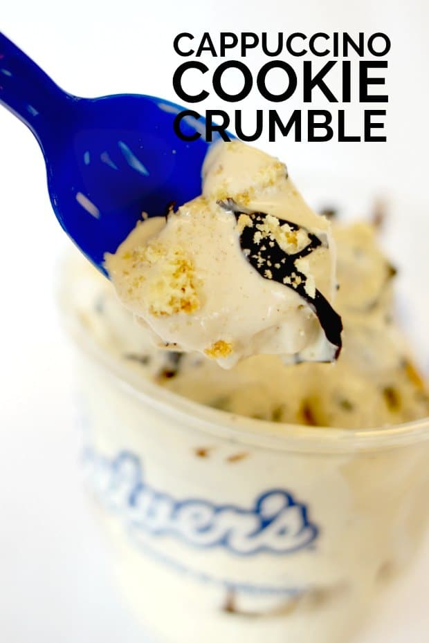 Cappuccino Cookie Crumble Frozen Custard from Culver's