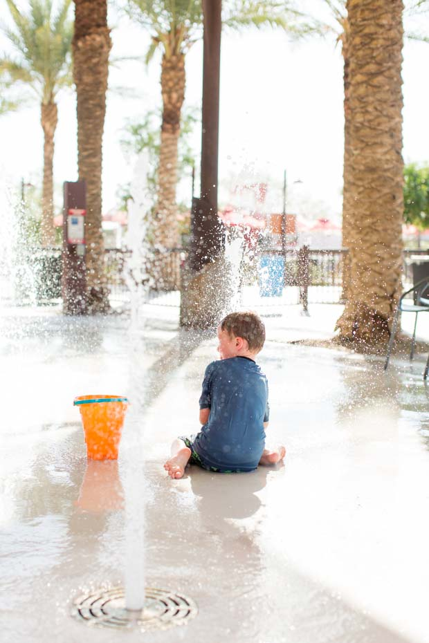 Playing at Splash Pad
