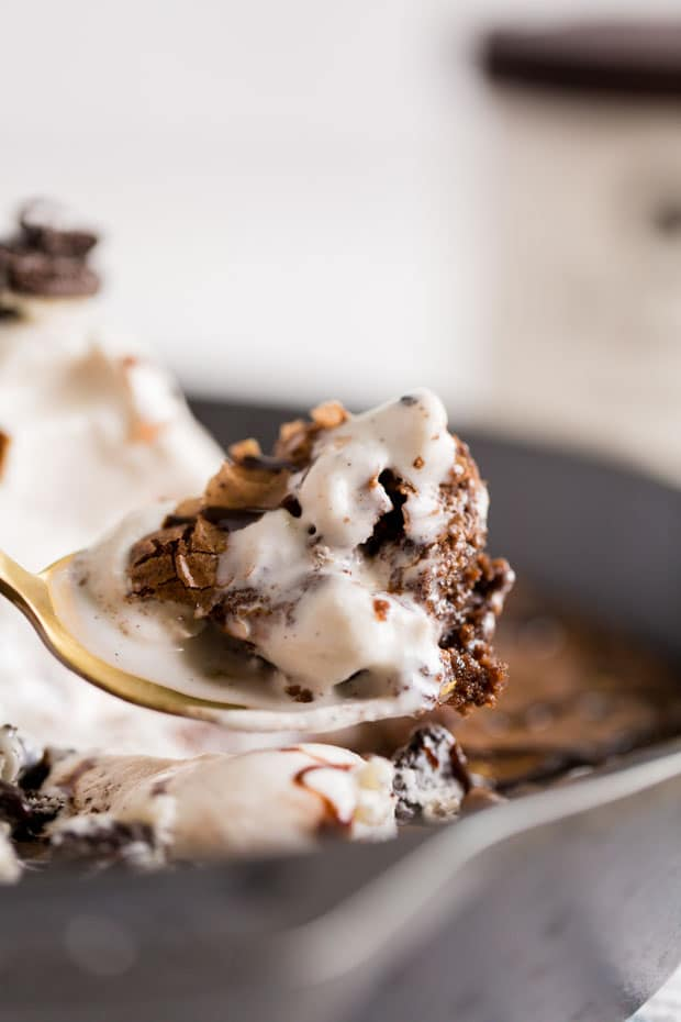 Brownie Skillet with Ice Cream