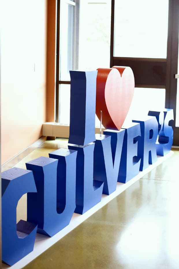 I Heart Culvers Sign