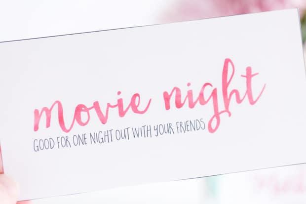 Movie Night Coupons