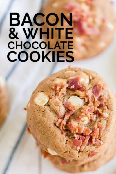 White Chocolate Chip Cookies with Bacon