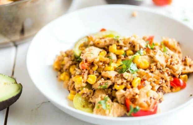 Southwestern Chicken with Brown Rice and Quinoa
