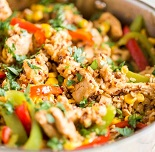 Easy Southwestern Chicken with Brown Rice and Quinoa
