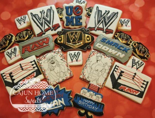 WWE Logo Cookies