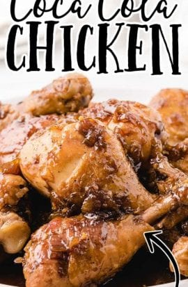 close up shot of Coca Cola Chicken drumsticks on a plate