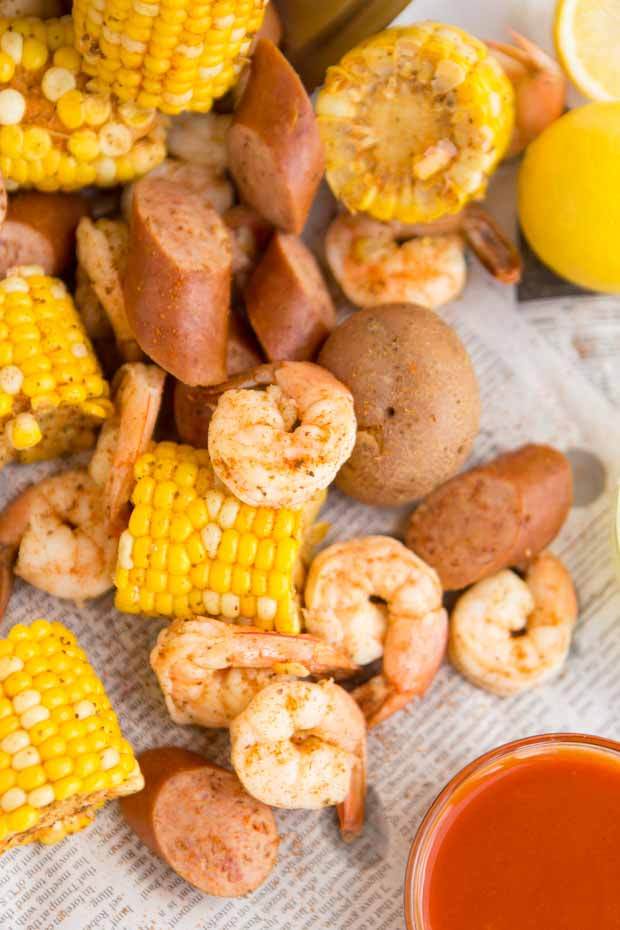 Low Country Boil Made With Old Bay
