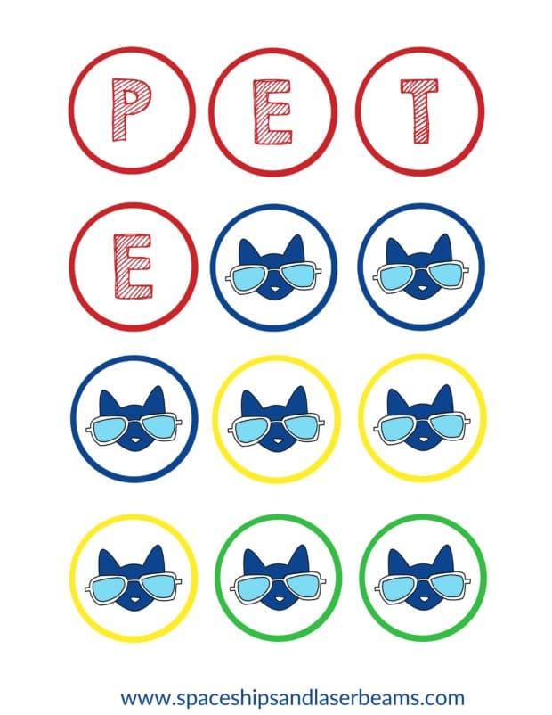 Pete the Cat Cupcake Topper