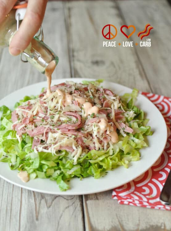 Reuben Chopped Salad with Russian Dressing