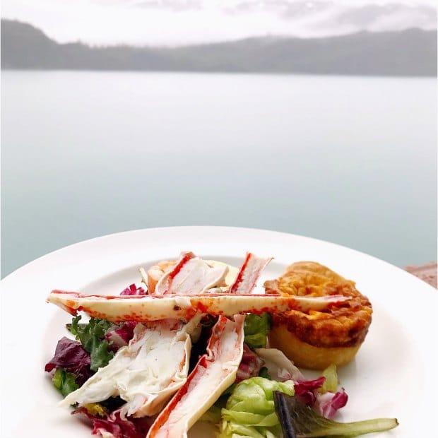Crab for Breakfast on Balcony of Island Princess