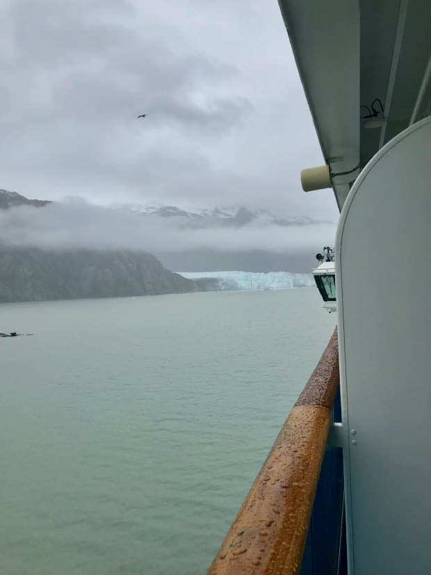 View of Glacier Bay from Balconey