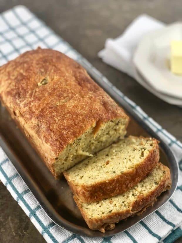 Keto Garlic Cheese Herb Bread