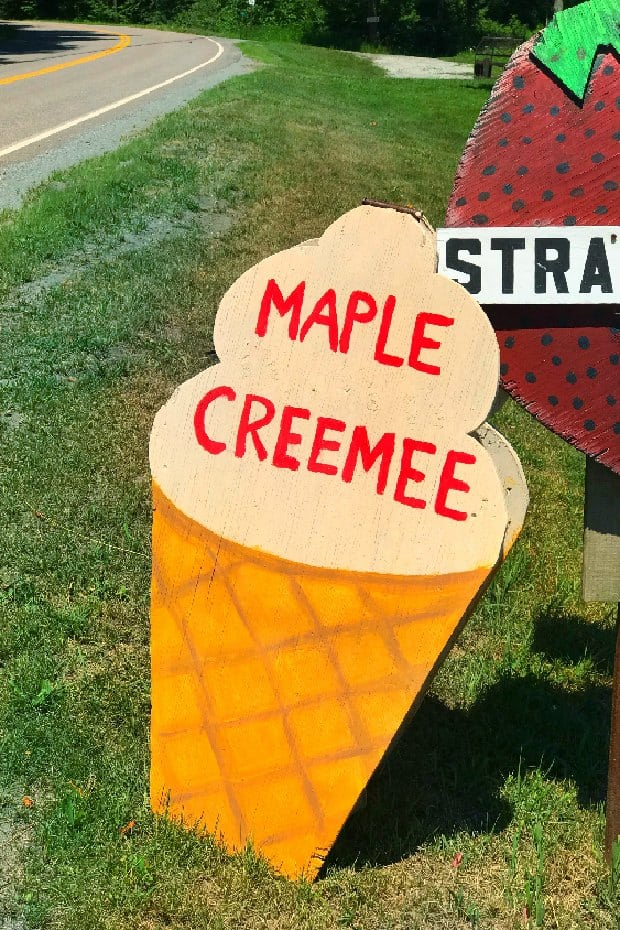 Maple Creamee Sign Vermont