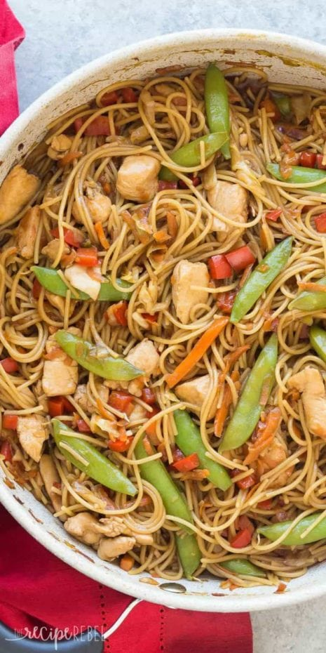 INSTANT POT CHICKEN CHOW MEIN RECIPE