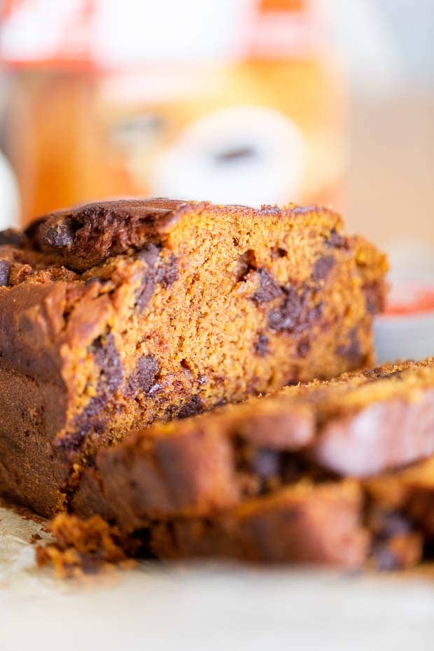 Best Pumpkin Bread with Chocolate Chips