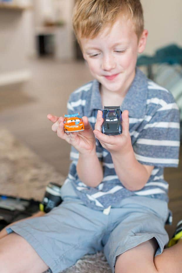 Playing with Disney Cars 3 Toys