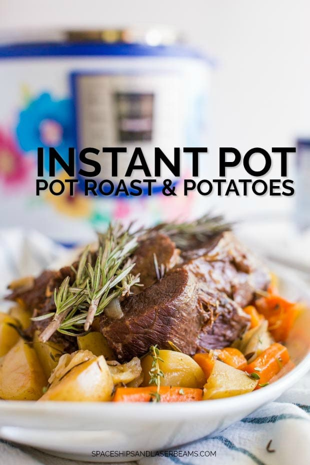 A plate of food, with Pot roast and Chuck roast