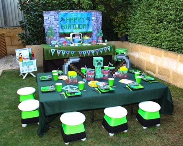 Top Notch Minecraft Themed Boy S Birthday Party