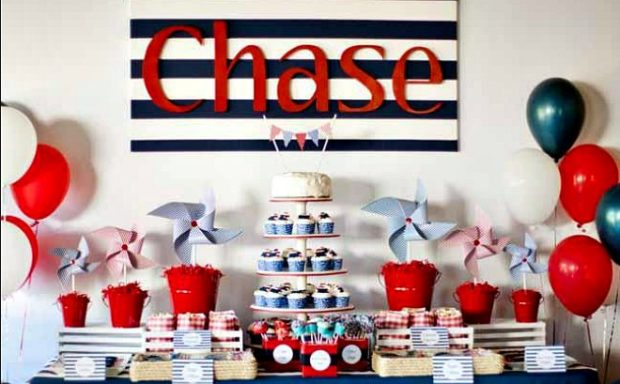 Nautical First Birthday Party For Boy Spaceships And