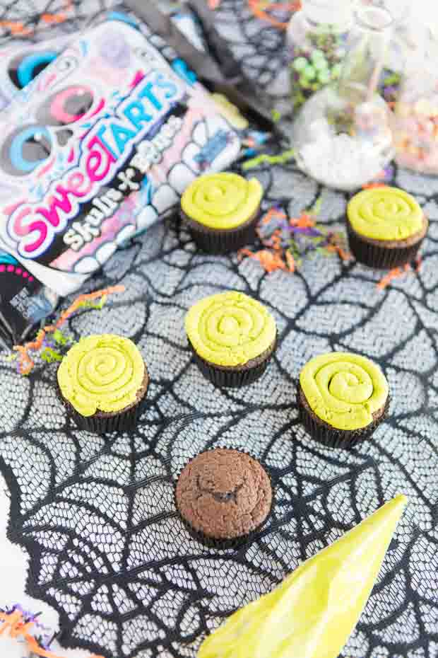 Dark Chcoolate Halloween Cupcakes