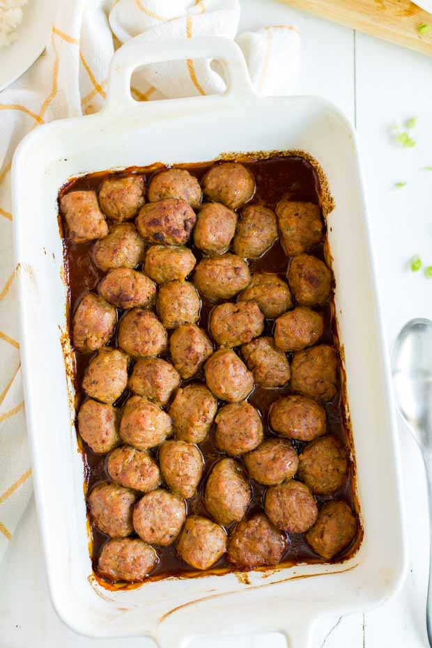 Oven Baked Sweet and Sour Meatballs