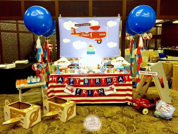 Vintage Airplane themed birthday
