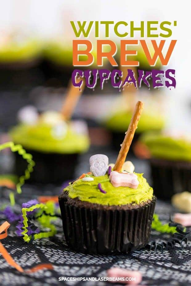 Witches Brew Halloween Cupcakes