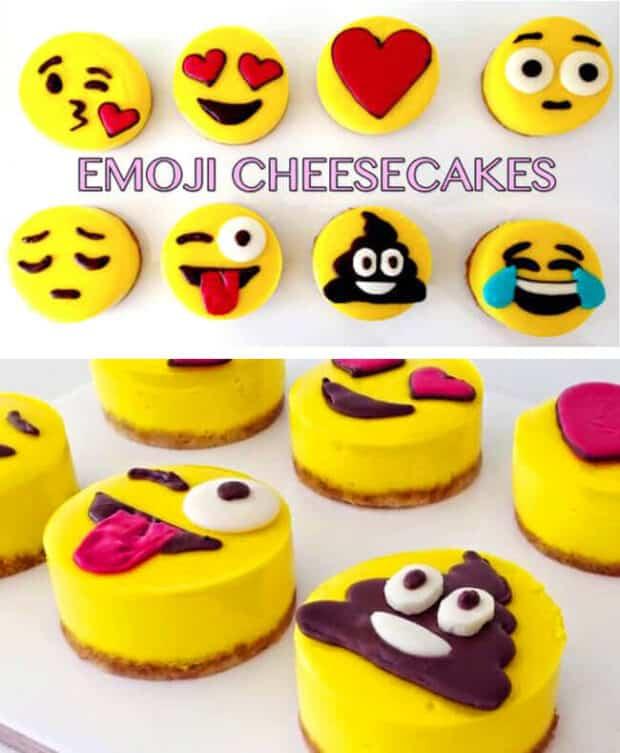 emoji cheesecakes