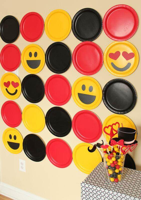 emoji photo booth backdrop
